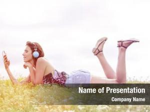 Woman profile shot listening music