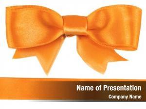 Ribbon orange bow white