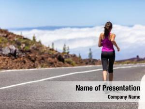 Woman outdoor fitness runner running