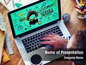 Call business, technology center concept