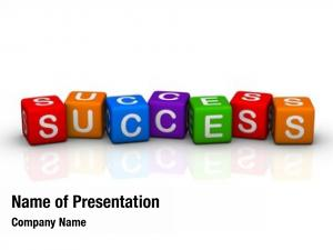 Colorful success (buzzword cubes series)
