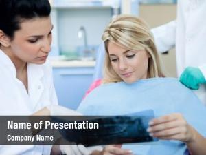 Patient female dentist examination room