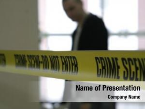 Tape police line detective