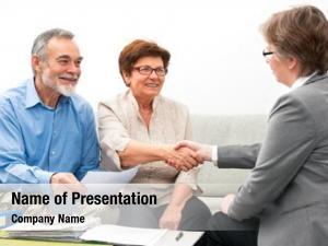 Meeting seniors couple financial adviser