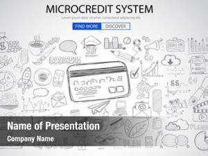 Concept microcredt systtem doodle design