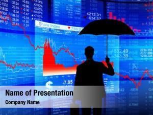 Protection: financial debt businessman umbrella