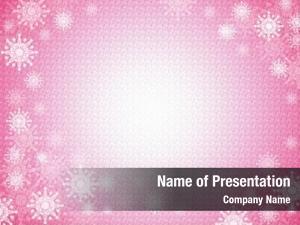 Snowflake pink winter frame