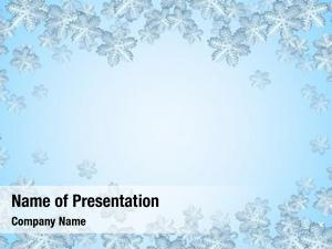 Snowflake blue winter frame