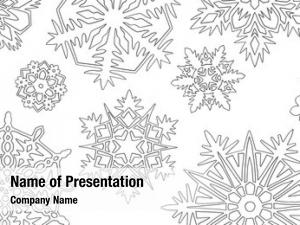 White lot paper cutout snowflakes