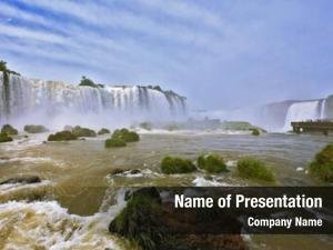 Boiling fantastically spectacular thundering waterfalls