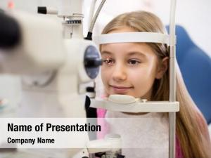 Clinic child eye controls vision