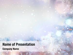 Holiday winter tree snow background