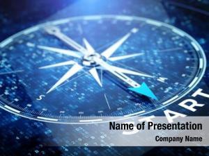 Tecnology start, startup concept compass