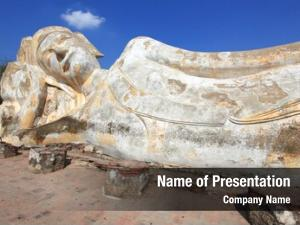 Buddha giant reclining statue over