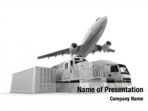 Freight airplane, truck, train cargo
