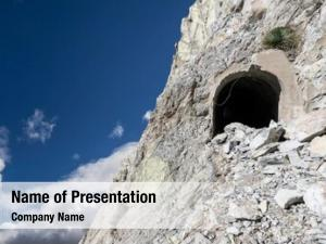 Entrance damaged mine dangerous mountain