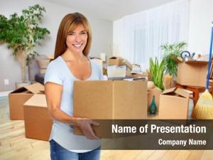 Box woman moving