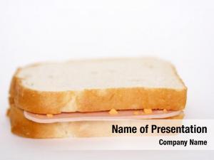Sandwich, plain ham selective focus