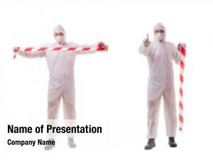 Protective forensic specialist suit white