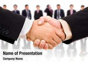 Partner handshake business after deal