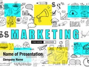 Concept marketing business doodle design