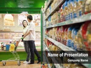 Shopping man woman supermarket shopping