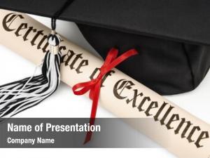 Graduation diploma black cap