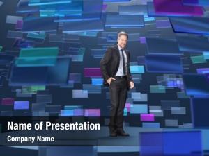 Broadcasting man virtual studio,