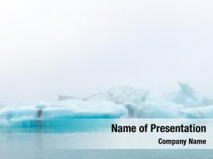 Sea fragments iceberg water