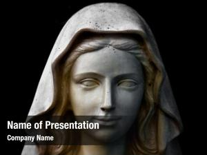 Statue holy mary portrait
