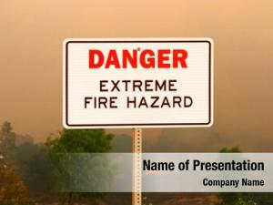 Fire danger extreme hazard sign
