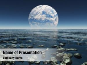 Landscape rocky watery planet earth