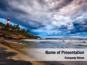 Storm panorama gathering beach kovalam