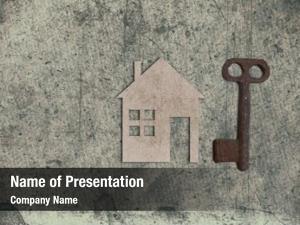 House model cardboard key old