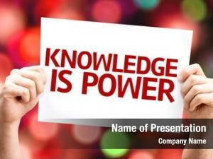 Card knowledge power colorful defocused