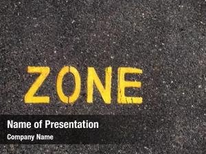 Written text 'zone' yellow paint
