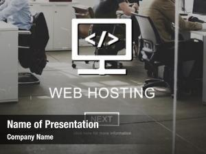 Server web hosting website user