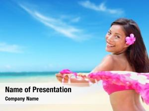 Bikini beach woman happy vacation