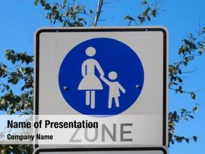 Sign pedestrian zone (aka auto