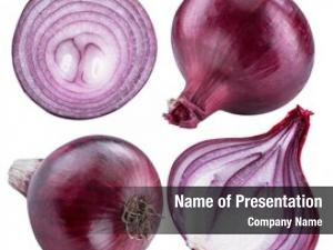 Bulbs red onion cross sections