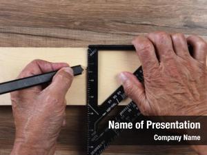 Carpenters high angle closeup hands