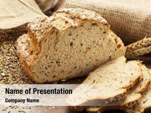 Bread whole grain slices, burlap
