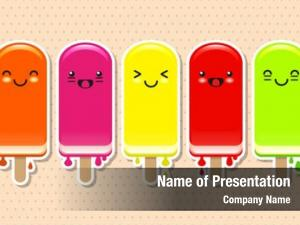 Ice cute fruit lolly stickers