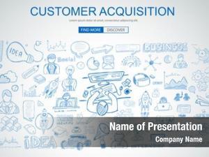 Concept customer acquisition business doodle
