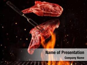 Pork flying pieces chops steaks