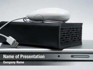 External laptop, mouse hard drive