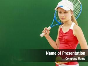 Young tennis beautiful girl tennis