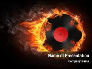 Flame record fire black