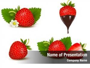Sweet set ripe strawberry flower