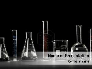 Over laboratory glassware black reflections